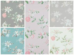 vlies tapete florales blumen muster grau ros creme wei braun summer breeze ebay. Black Bedroom Furniture Sets. Home Design Ideas