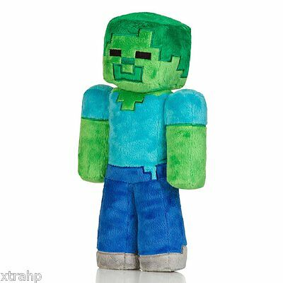 """Minecraft Zombie 12"""" Plush Toy Doll New Official Jinx Product"""