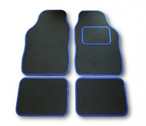 negro y ribete azul coche tapetes Porsche Caimán 13+