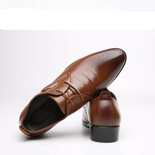 Men/'s Oxfords Leather Shoes Dress Formal Business Casual wedding Pointed Toe
