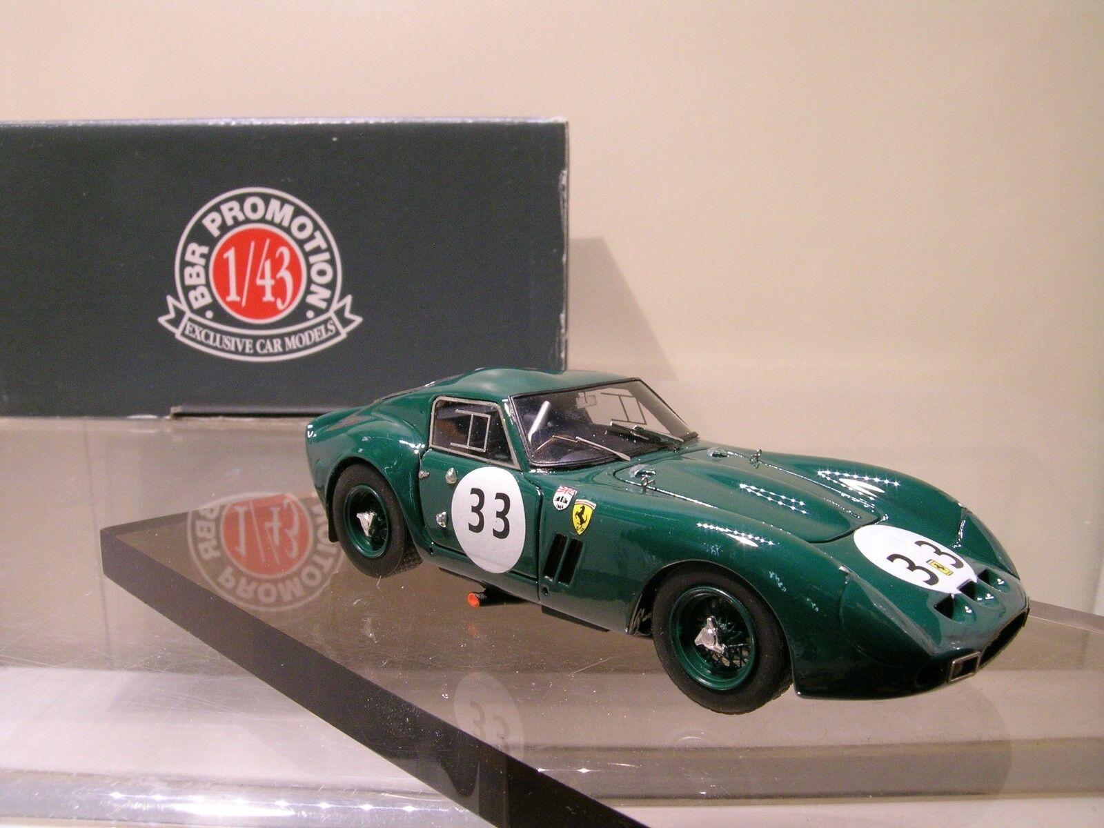 BBR MODELS NO.BC22 FERRARI 250GTO 500KM SPA 196533 SUTCLIFFE verde BOXED 1 43