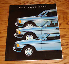 Original 1984 Mercedes Benz 300 Class Deluxe Sales Brochure 84 TD D CD