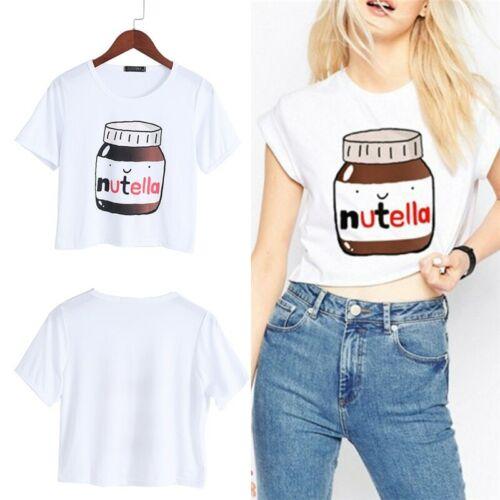 White Crop Tops Short Sleeve T shirts Fitness Women Fashion Kawaii T-shirt