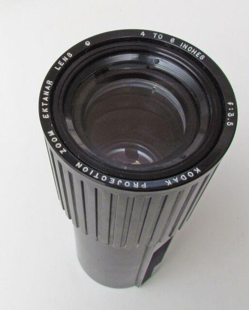 Kodak Projection Ektanar Zoom Lens 4-6 in f/3.5 Lumenized Carousel & Ektagraphic