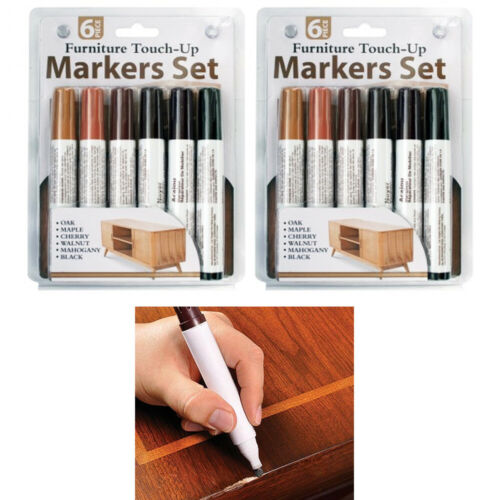12 Pc Furniture Touch Up Marker Pen Wood Wax Scratch Repair Filler Remover Fix