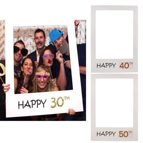 Photo Booth Props Requisiten Bilderrahmen Geburtstag Jahrestag Party Fotorahmen