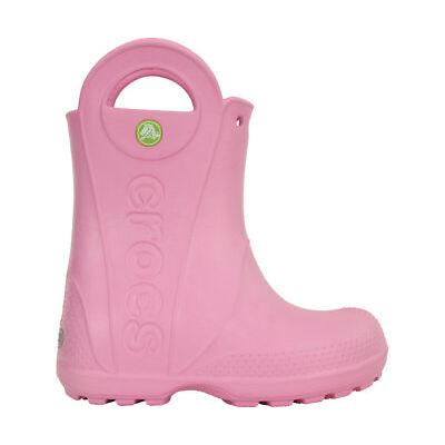 NEW Genuine Crocs Girls Kids Handle It Rain Boot Carnation - Australia Store