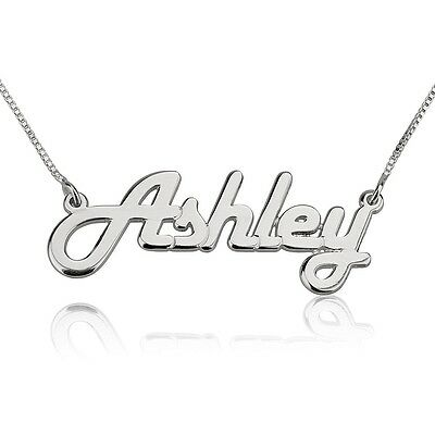 Script Any Name Necklace Silver Fashion Nameplate Custom Jewelry oNecklace ®