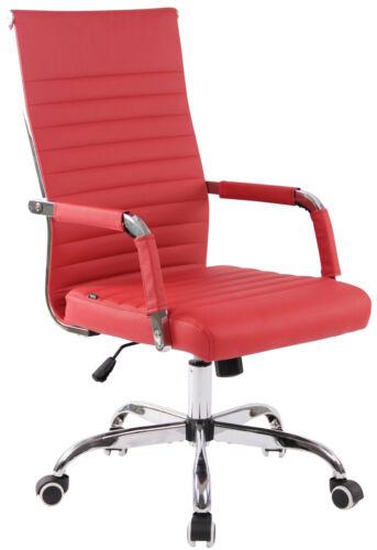 Bürostuhl Amadora Kunstleder rot