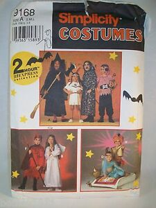 Witch-Pirate-Devil-Angel-Princess-Child-039-s-Costume-Used-Pattern-Simplicity-9168