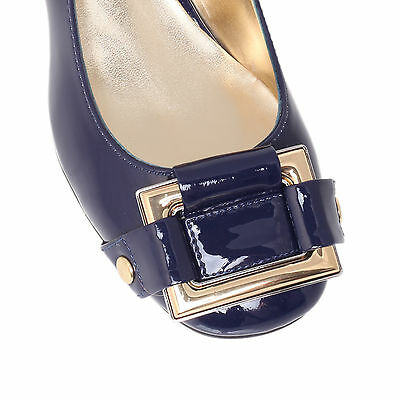 SOLVENT3 NINE WEST SYNTHETIC NAVY WOMENS LADIES SHOE