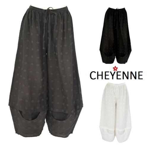 CHEYENNE  LB0860 Textured Linen  HEXI-DOT PANT Balloon  1X 2X 3X  2018  3 Colors