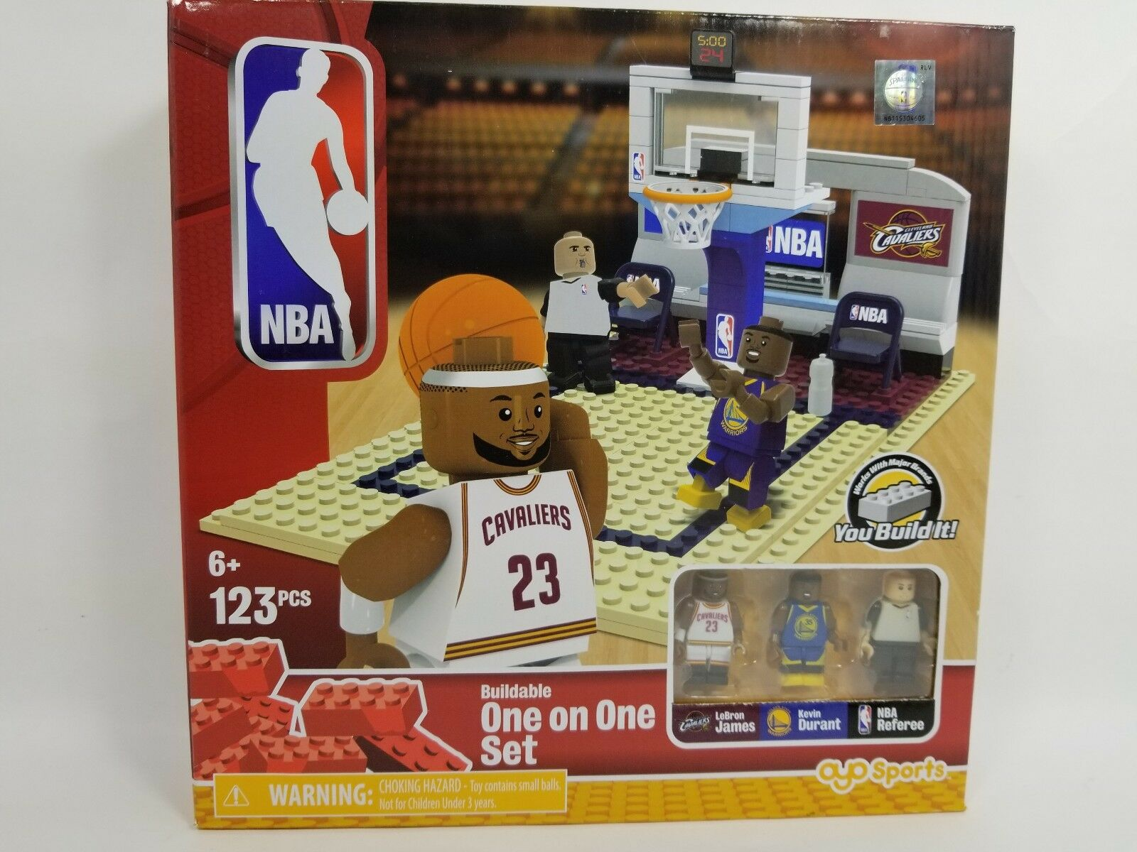 NBA Lego type Buildable Collector Set LeBron James Kevin Durant Referee 123 Pcs