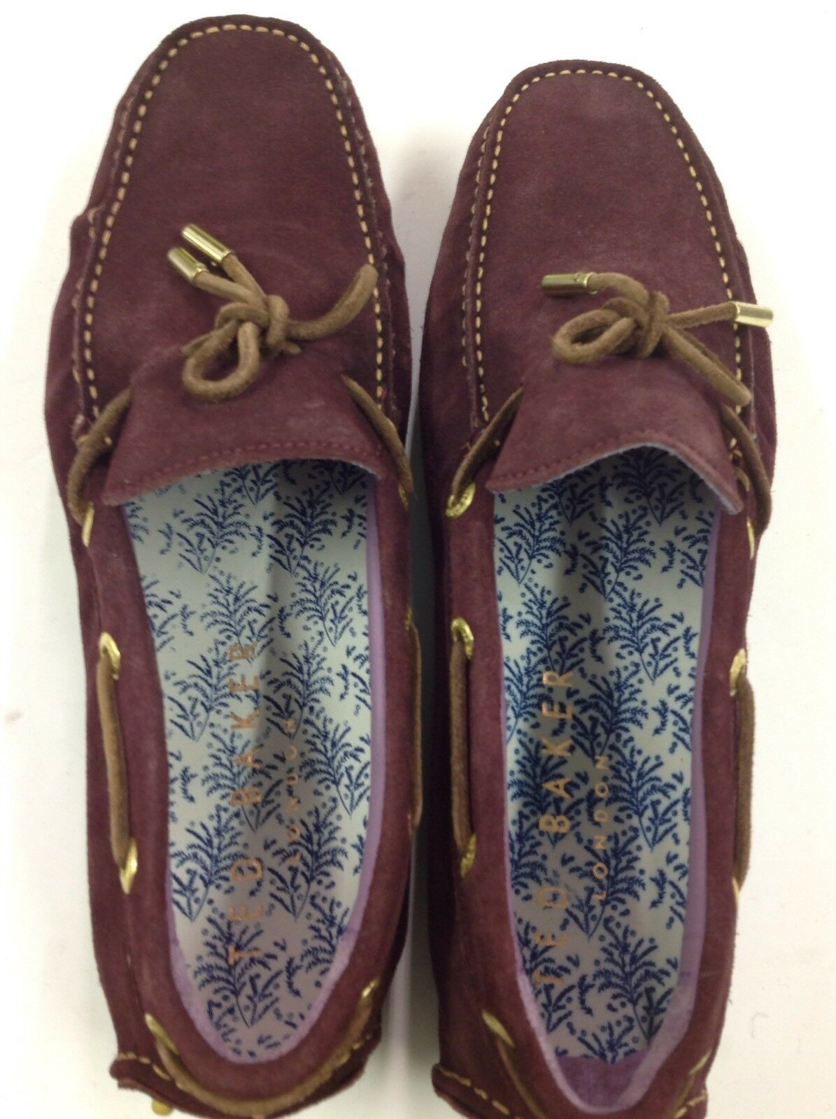 NEW TED BAKER TALPEN 3 BURGUNDY COLOR  US SIZE 9