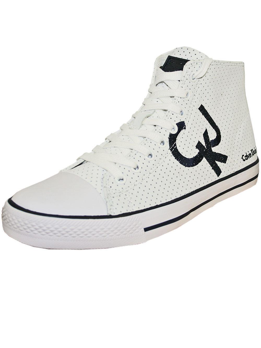 Calvin Klein Jeans Herren Leder Sneaker Schuhe High *Dawson* in Weiss Neu+OVP!