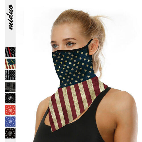 1PC Unisex Sport Bandana Triangle Scarf Neck Tube Outdoor Ear Hanging Face Cover