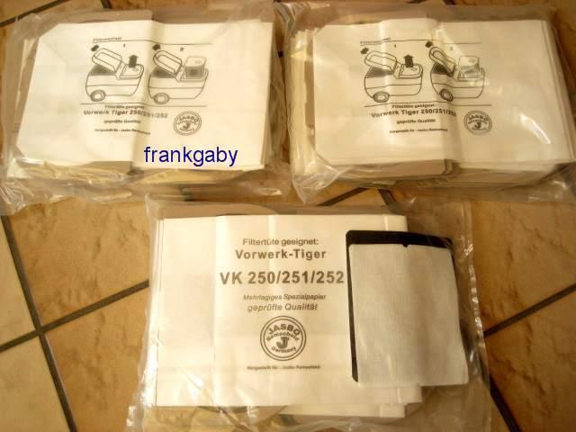 30 Staubsaugerbeutel Tüten geeignet Vorwerk Tiger 250 251 252