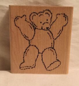 JRL-Design-Q299-Standing-Bear-Stamp-Wood