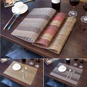Image Is Loading Set Of 4 PVC Insulation Bowl Placemats Kitchen