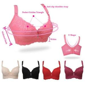 5d9742e17b Women Sheer Lace Bra Push Up Bras Underwear Underwire Deep V ...