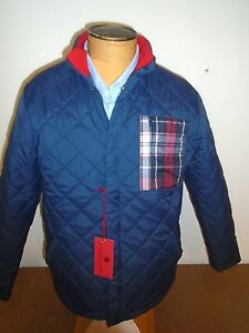 Southern-Proper-Quilted-Nylon-Insulated-Jacket-NWT-Medium-175-Navy-Blue
