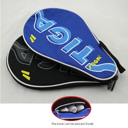 Full Cover STIGA Table Tennis Racket Case Ping Pong Paddle /& Balls Hold Pocket
