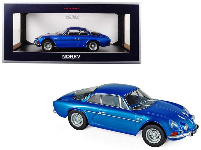 1 18 Norev Renault Alpine A110 1600S Diecast modello auto Mettuttiic blu 185300