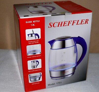 Scheffler Wasserkocher LED Beleuchtet 2200W 1,8 l. 360