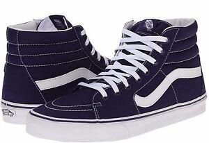 Vans Classic SK8 Hi Top Patriot Blue White Shoes Skates Size Mens ... b418aa92a