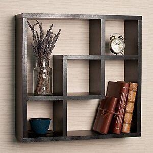 Danya-B-FF4513B-Geometric-Square-Wall-Shelf-with-5-Openings-NEW