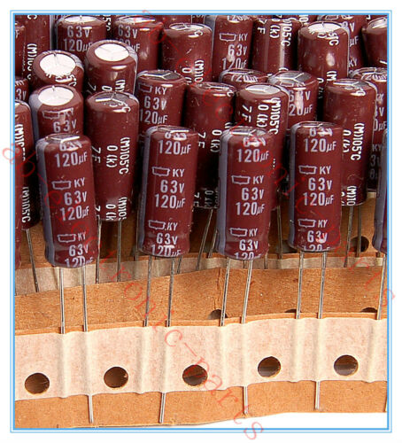 120uf 63v NCC Radial Electrolytic Capacitors 63v120uf JAPAN 30pcs
