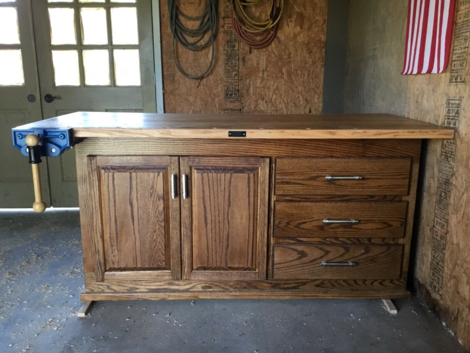 Heirloom addition oak work workbench (new)