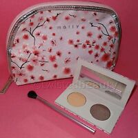 Mally Cherry Blossom Eye Shadow Palette - Frosted Taupe + Brush Make-up Bag Lot
