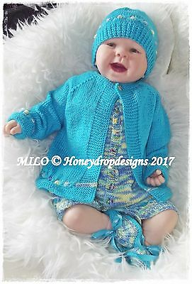 MILO PAPER KNITTING PATTERN HONEYDROPDESIGNS 3-12 MONTHS APPROX.