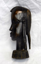 Antique Carved Nigerian Woman's Head / Bust - Ebony - pre 1900