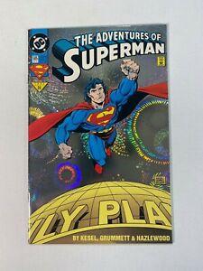Adventures-of-Superman-505-DC-1993-Rainbow-Foil-Cover-1st-Loophole