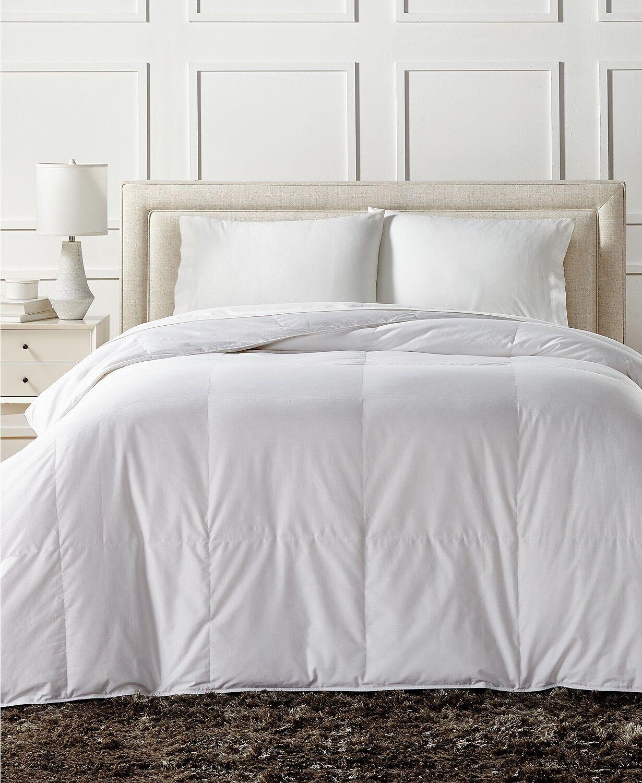 Charter Club European Weiß Down Light Weight KING Comforter Bedding  380 H330