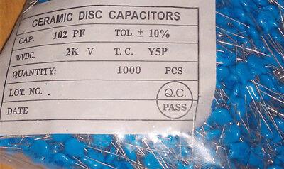 1000PCS 102 2KV 1nF 2000V 1000PF ceramic capacitors