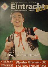 Programm 1995/96 Eintracht Braunschweig - Werder Bremen Am. / St. Pauli Am.
