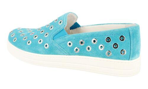Neu 40 40 Prada Schuhe Sneaker Tuerkis Luxus 3s6159 Uk New 7 5 fqXnU