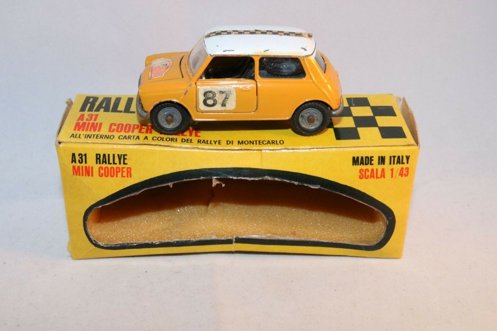 Mebetoys A-31 A 31 A31 Mini Cooper Rally in excellent plus condition
