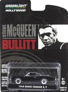 Greenlight-1968-Dodge-Charger-R-T-034-Bullitt-034-Steve-Mcqueen-1-64-Pressofuso