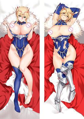 Fate Grand Order Saber Lancer Artoria Dakimakura Pillow Case Cover Hugging Body