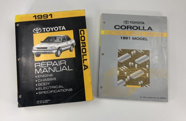 1991 Toyota Corolla Repair Manual With Electrical Wiring ...