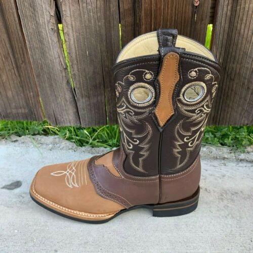Details about  /Botas Rodeo Punta Cuadrada Torito Women/'s Square Toe Cowgirl Boots Leather 700