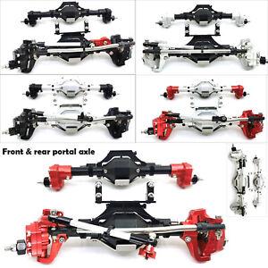 Metal-Front-amp-Rear-Portal-Axle-for-1-10-Axial-SCX10-II-90046-90047-Car-Parts-MV