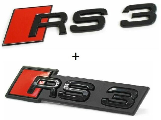 New Genuine AUDI RS3 17-18 Front RS3 Badge Grill Emblem Chrome 8V5853736B 2Zz