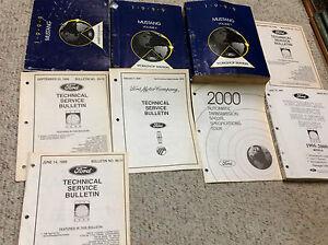 1999 FORD MUSTANG Service Shop Repair Manual Set W EWD ...