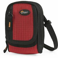 New OEM Lowepro Ridge 10 RED Compact Digital Camera Pouch Case Bag w/ STRAP #936