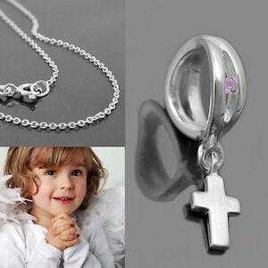 Kette zur Taufe 925 Silber Anhänger mit Wunschtext Engelschmuck